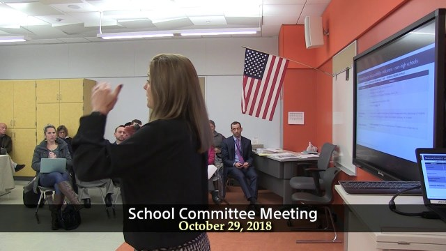 Winthrop School Committee Meeting of October 29, 2018