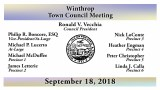 Winthrop Town Council Meeting of Sept 18, 2018