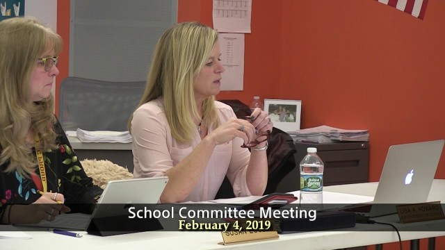 Winthrop School Committee Meeting of February 4, 2019
