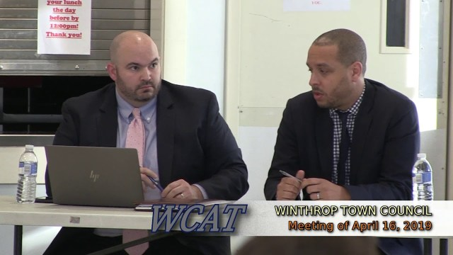 Winthrop Town Council Meeting of April 16, 2019