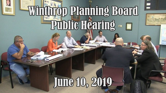 Winthrop Planning Board Meeting of June 10, 2019