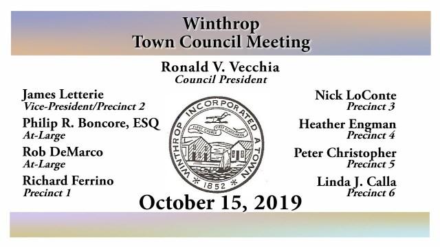 Winthrop Town Council Meeting of October 15, 2019