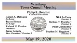 Winthrop Town Council Meeting of May 19, 2020