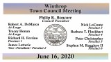 Winthrop Town Council Meeting of June 16, 2020