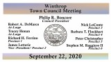 Winthrop Town Council Meeting of September 22, 2020