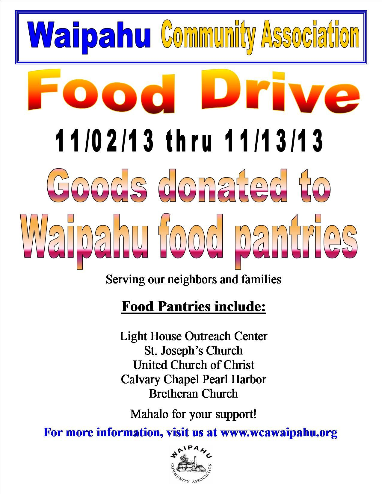 Thanksgiving Can Food Drive Flyer
