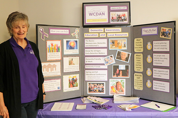 Jody Loseth, Education Team Leader at the WCDAN display.