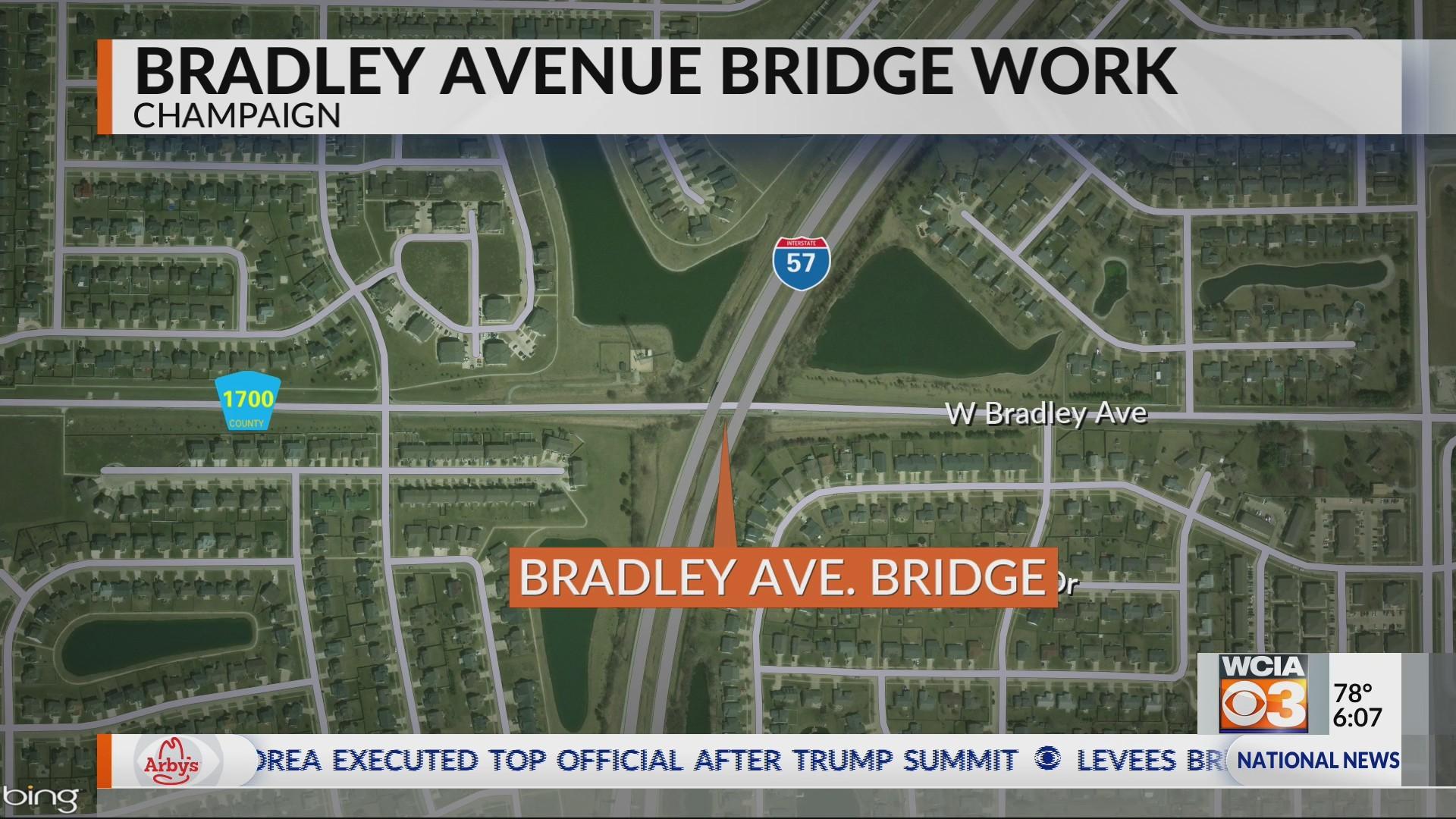 Bradley Avenue bridge work