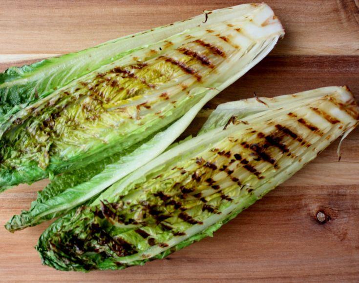 Grilled Romaine Lettuce Caesar Salad
