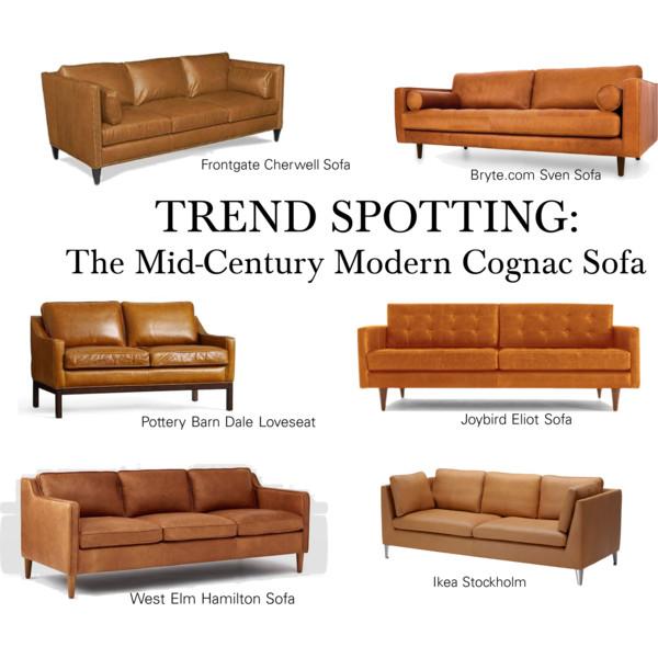 Trend Spotting - The Mid Century Modern Cognac Sofa