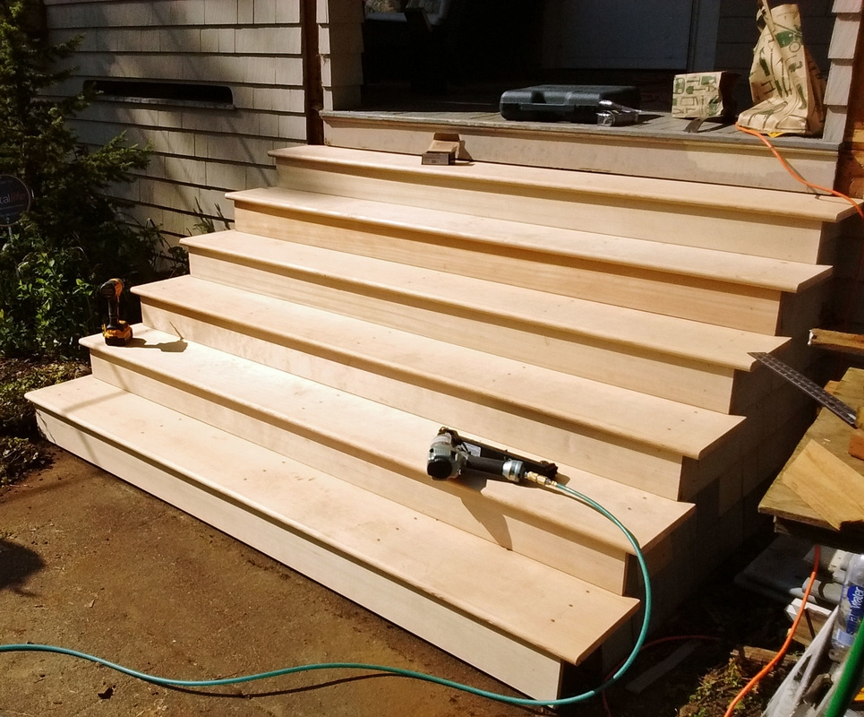 Wood Step And Stair Repair And Rebuild In Portland Or West | Repairing Outdoor Wooden Steps | Stair Stringer | Concrete Slab | Deck Stairs | Concrete Porch | Deck