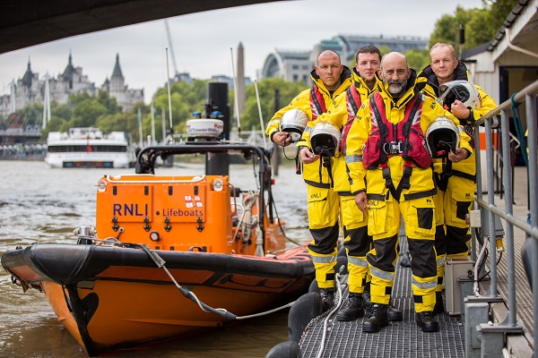 RNLI Team - Stephen Wheatley at the front