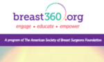 Breast360.org is a program of the American Society of Breast Surgeons Foundation. It is a patient care website, written by breast surgeons, that provides information bout breast issues. It's goal is to engage, educate, and empower patients!