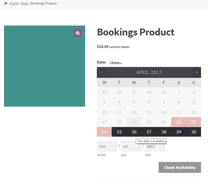 WooCommerce Bookings Integration