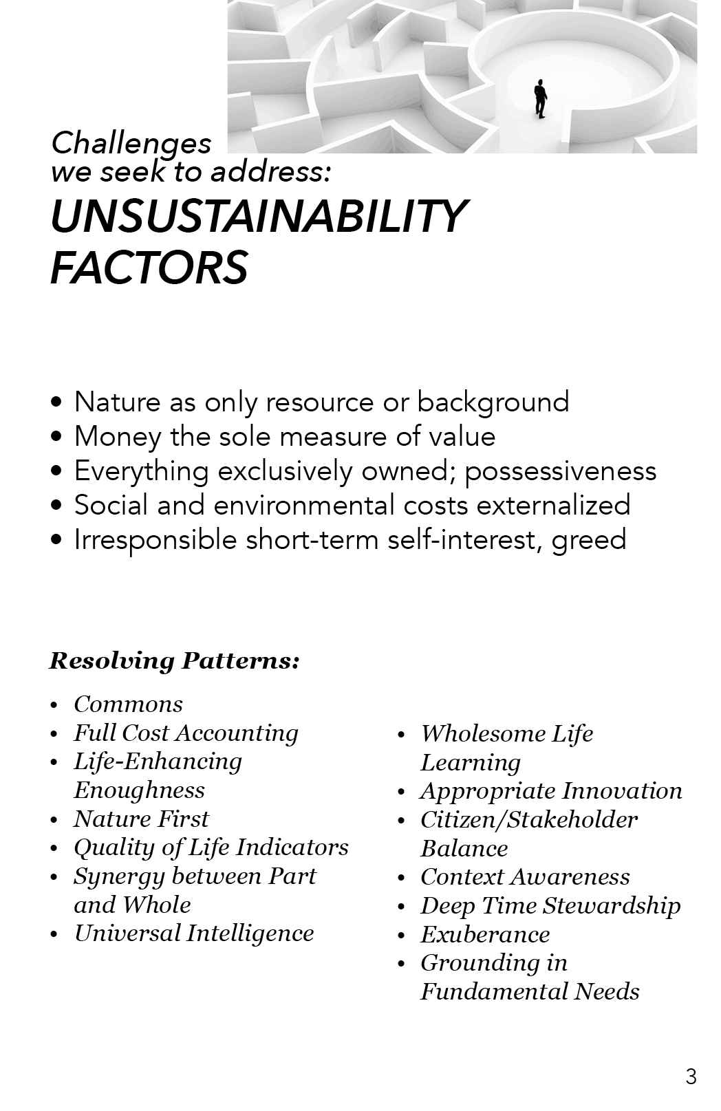 AAA - Unsustainibility