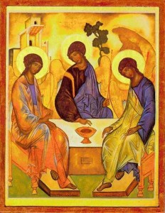 "<p>Rublev¢â'¬â""¢s icon of the Trinity</p>"