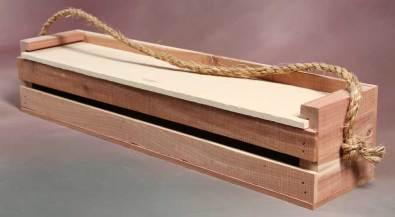 Rustic slat-sided unfinished box