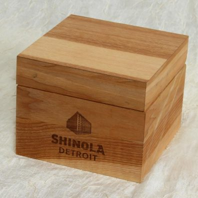 Shinola wood watch package