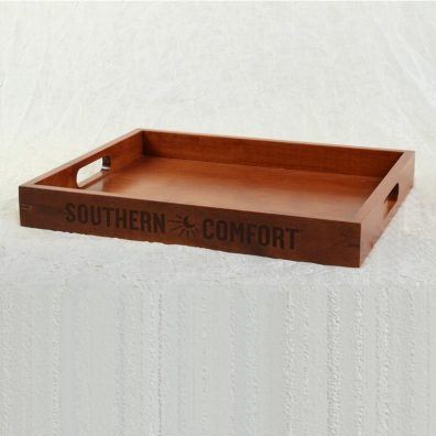 Southern Comfort wood display tray
