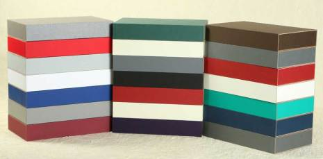MinnMade composite boxes in multiple colors