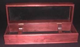 Premium wooden wine box with hinge top