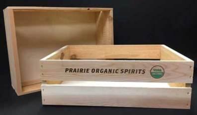 Premium wood liquor crate