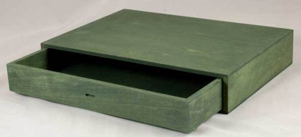 Rustic Green Drawer In Box