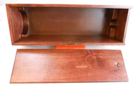 Premium wood liquor box with wood form for bottle and slide top box