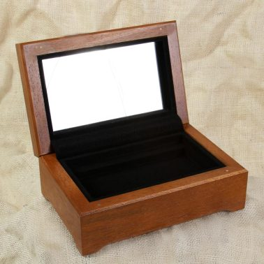 Small specialty box with mirror