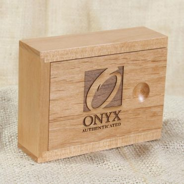 ONYX Authenticated Wood Container with slide top