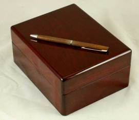 Cherry Gloss Finish with Wood Pen
