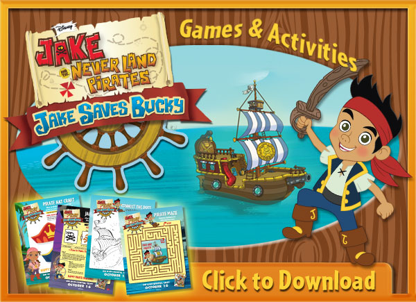 Download Jake and Neverland Pirates Printable Activities!