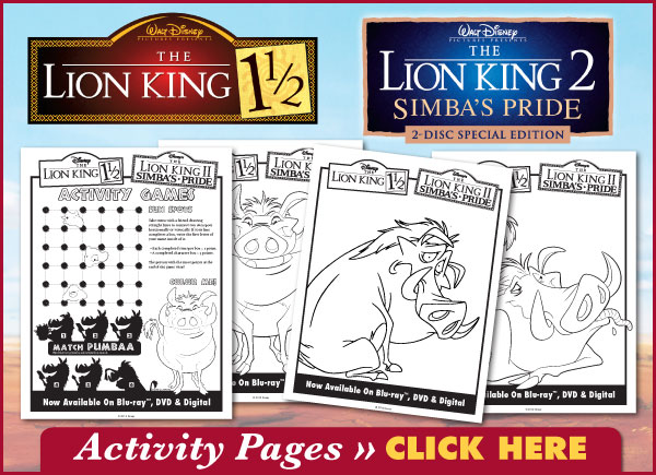 Lion King Printable Downloads!