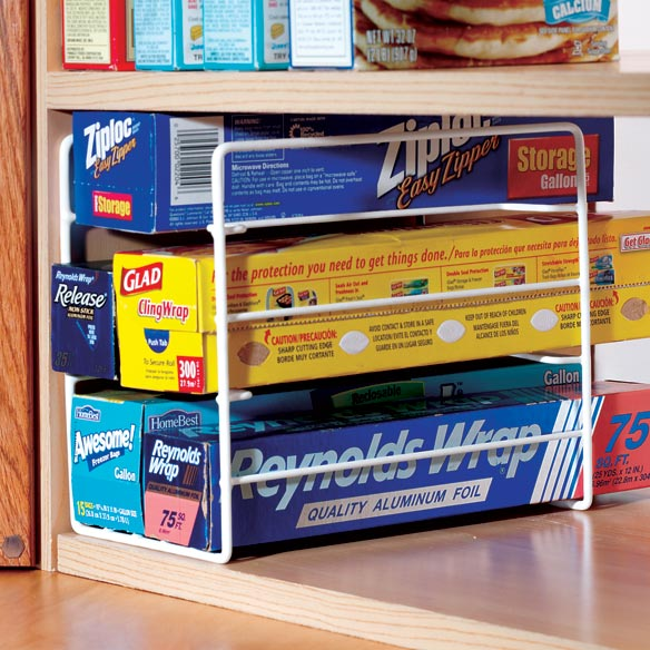 Kitchen Wrap Organizer Storage Rack Walter Drake
