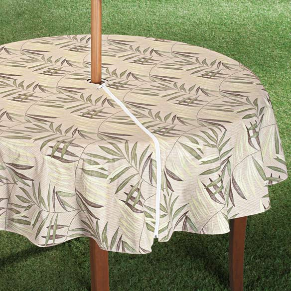 Patio Table Cover With Zipper Fern Design Walter Drake