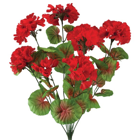 Artificial Red Geraniums Artificial Oudoor Flowers