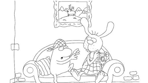 Nulli Und Priesemut Auf Dem Sofa Die Seite Mit Der Maus