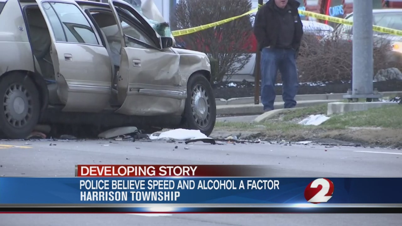 Speed and alcohol likely factors in chain reaction crash