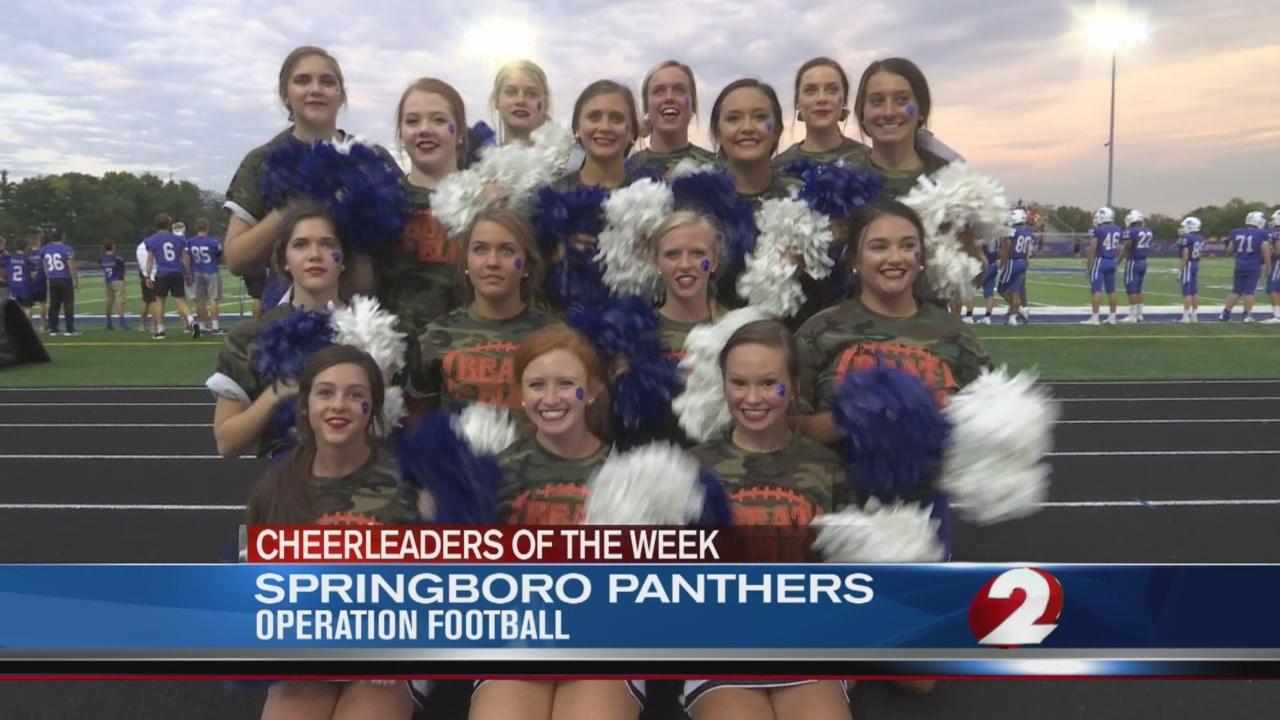 Operation Football Cheerleaders of the Week 5: Springboro Panthers
