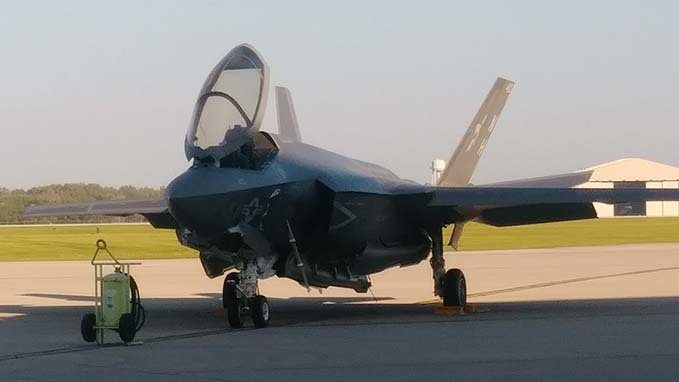 Fighter Jets land at WPAFB