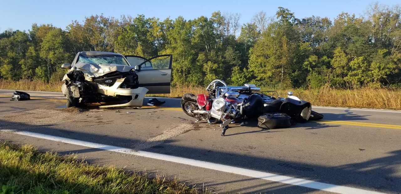 Motorcycle rider killed in German Township crash