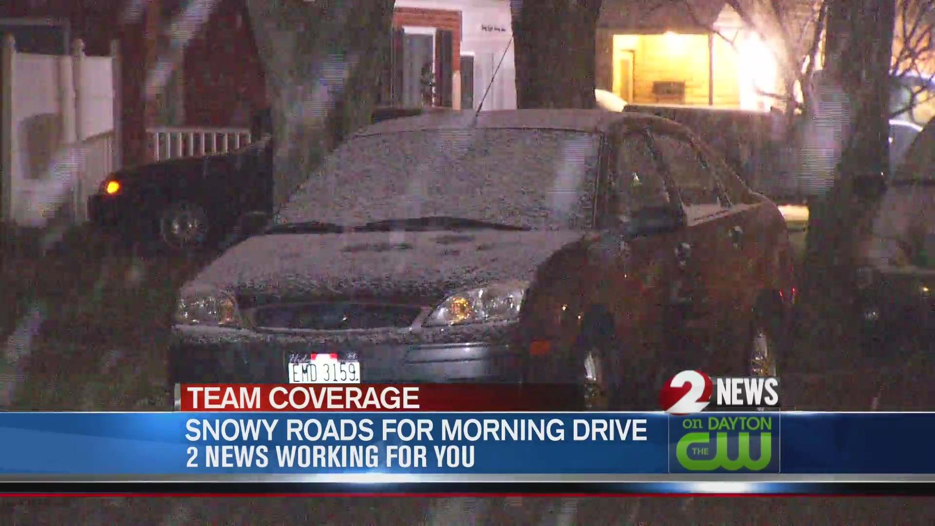Snow slows morning drive
