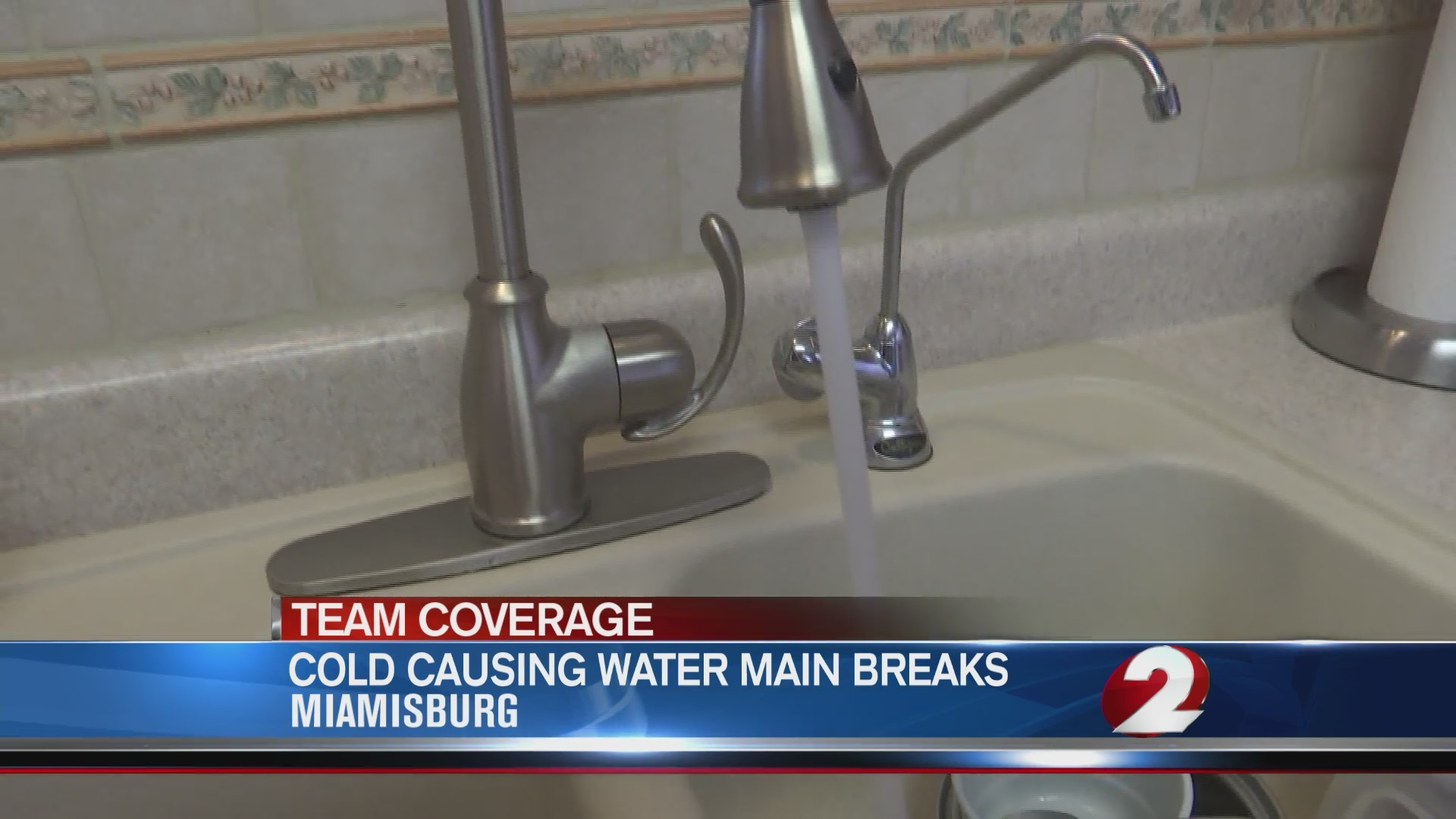 Cold causing water main breaks
