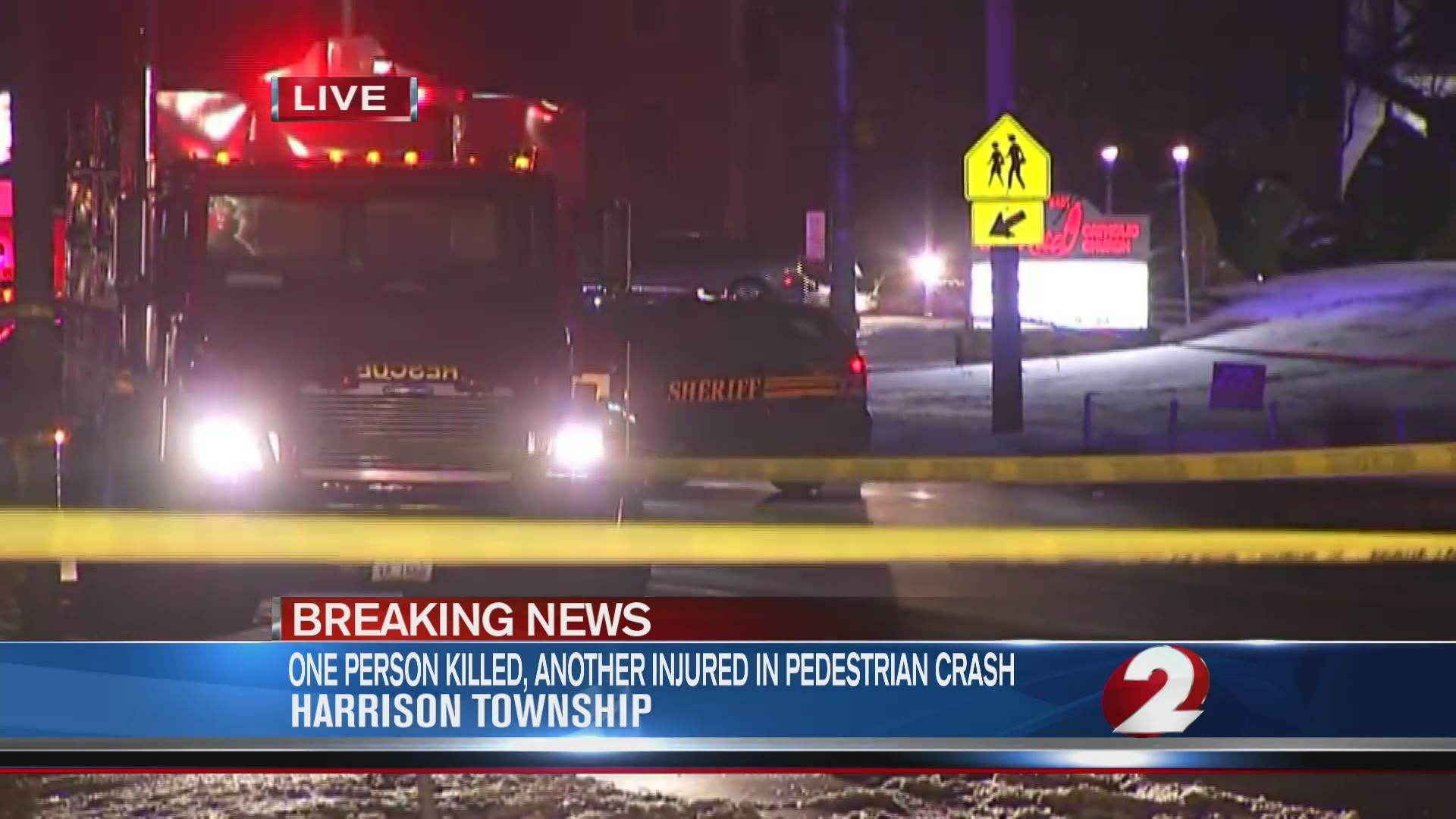 One person killed, another injured in pedestrian crash