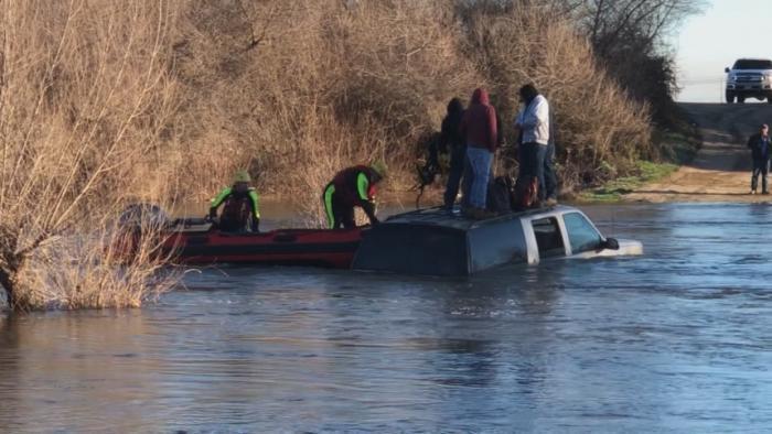 WATCH: Five Men Rescued From Swollen River