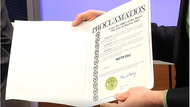 'WDTN Day' proclamation