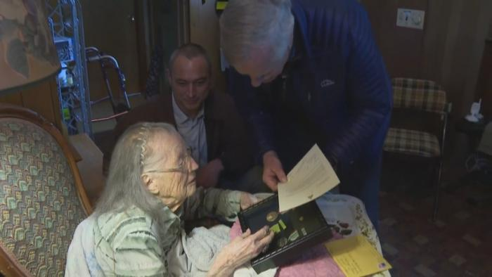 102-Year-Old Veteran Honored With WWII Medals