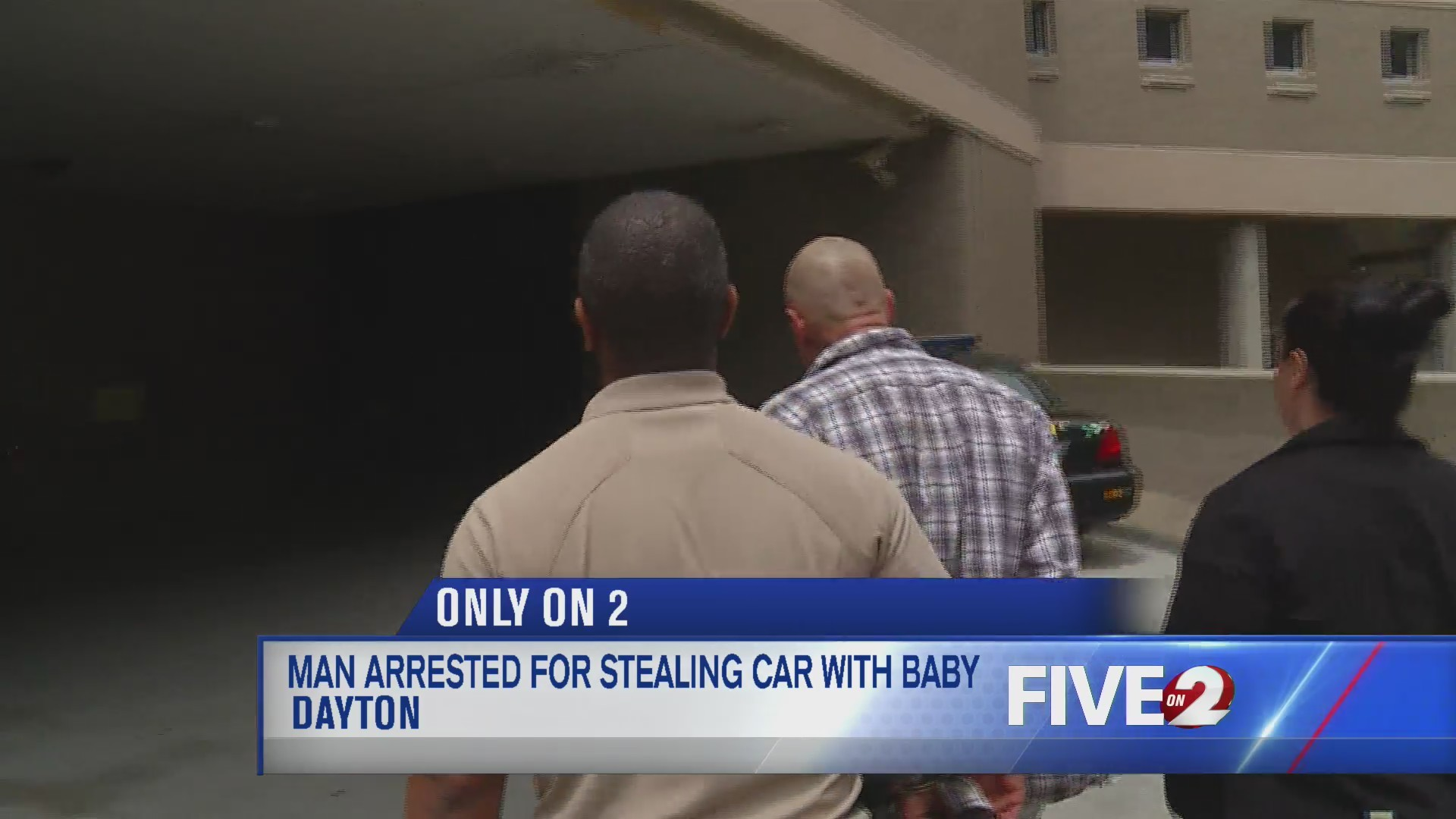 Man arrested for stealing car with baby