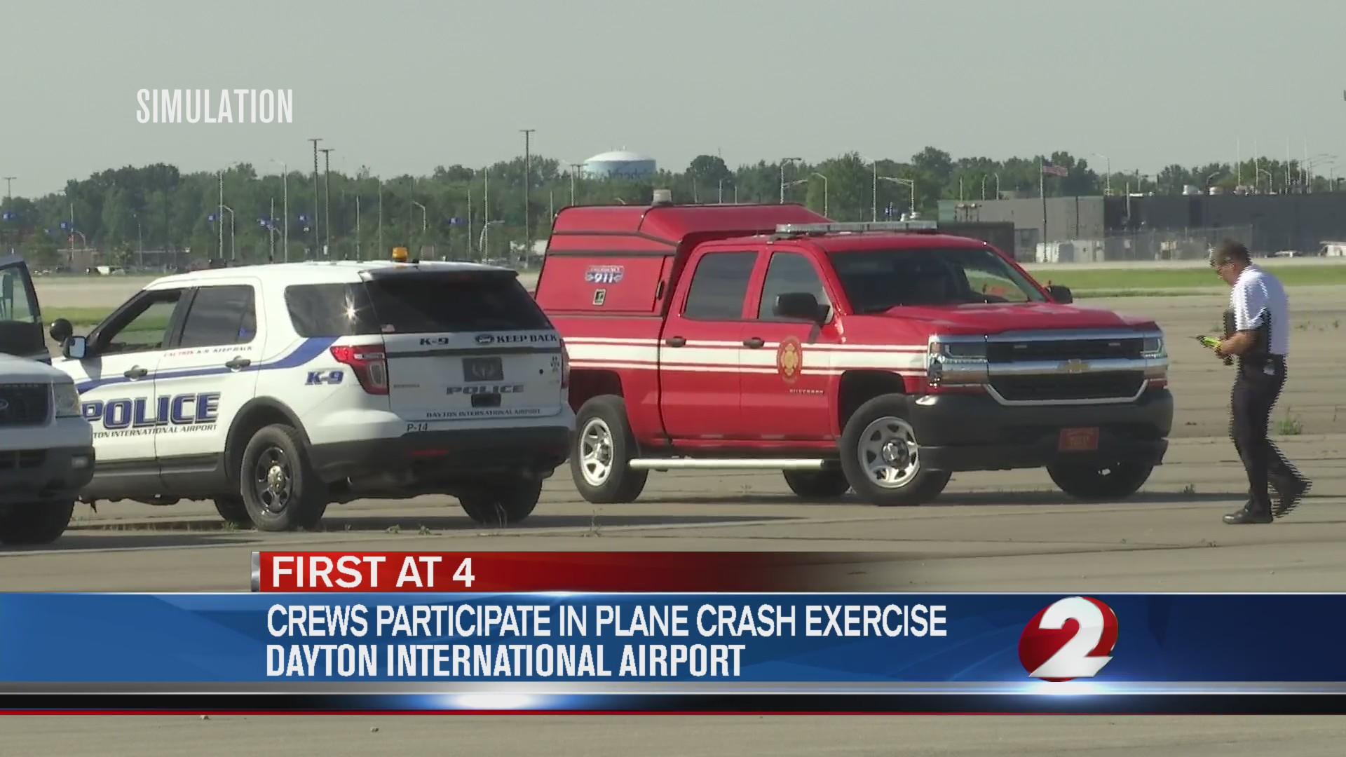 Crews participate in plane crash exercise