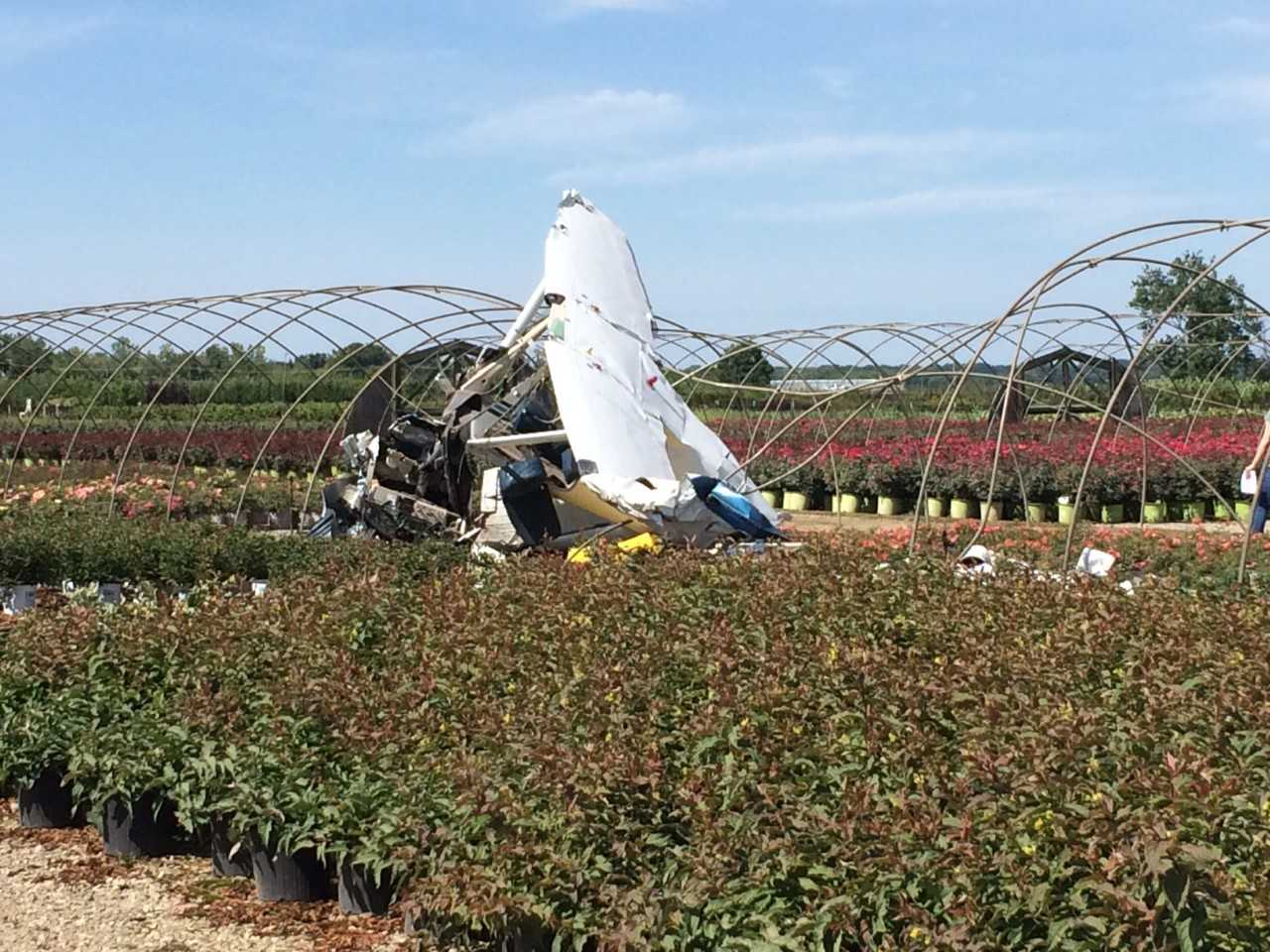 Three people taken to hospital after plane crash in New